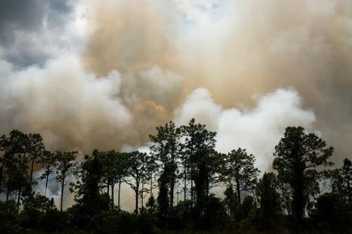 wild fire in irvine