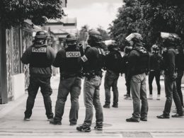 police standing