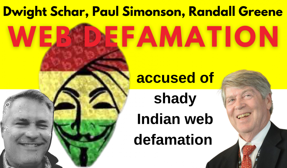 Dwight Schar's accused of shady Indian web defamation Randall Greene, Paul Simonson.jpg