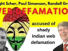 Dwight Schar's accused of shady Indian web defamation Randall Greene, Paul Simonson.jpg