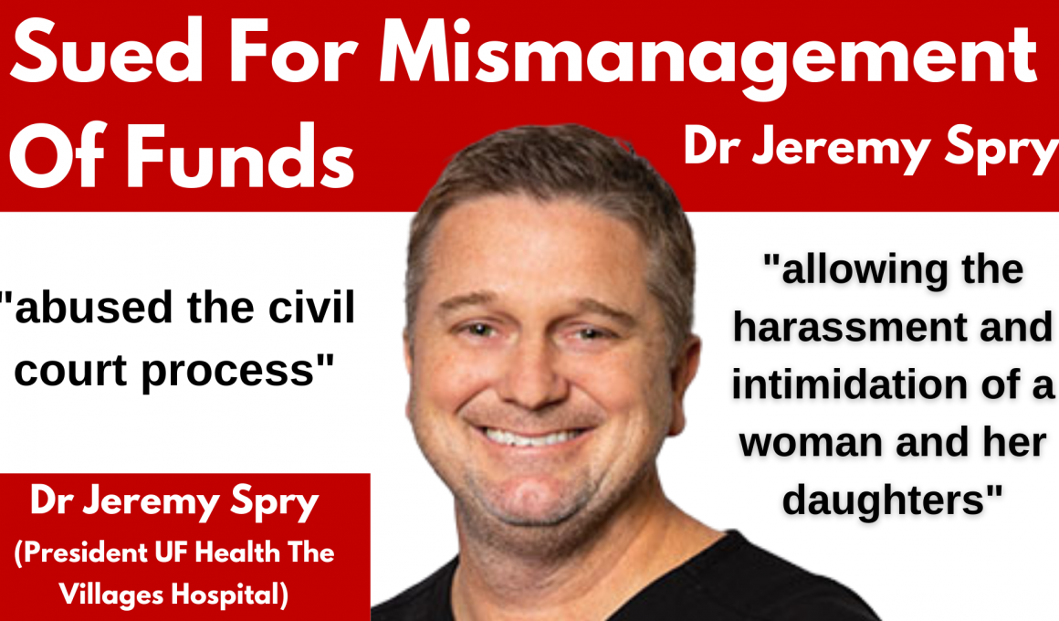 Dr-Jeremy-Spry-Sued-For-Mismanagement-Of-Funds
